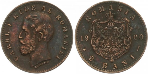Rumänien 2 Bani 1900 - Carol I.