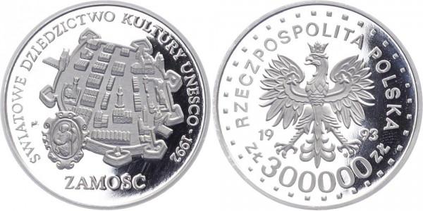 Polen 300 000 Zlotych 1993 - Zamosc