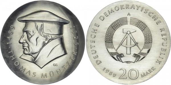 DDR 20 Mark 1989 A Müntzer