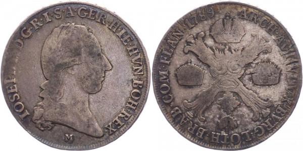 RDR/Österreich-Ungarn 1/2 Kronentaler 1789M Mailand Joseph II. ( 1781 - 1790 )