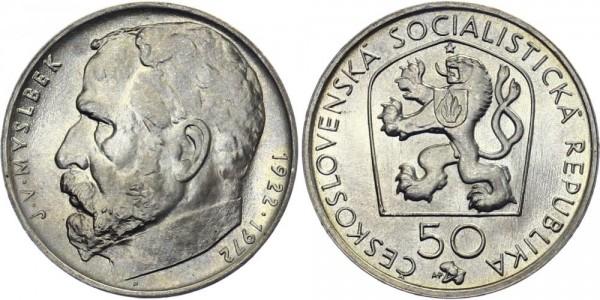CSSR 50 Kč 1972 - J. V. Myslbek