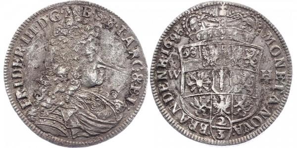Brandenburg-Preußen ⅔ Taler 1695 - Friedrich III.