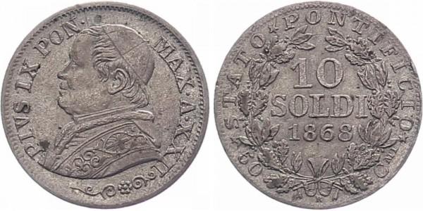 Vatikan 10 Soldi 1868 - Pius IX.