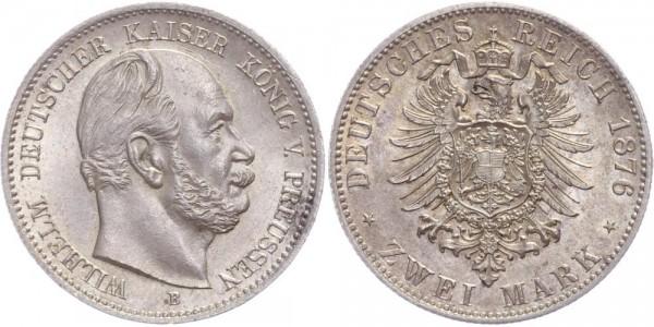 Preussen 2 Mark 1876 B Wilhelm I.