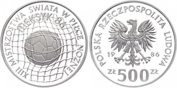 Polen 500 Zlotych 1986 - Fußball