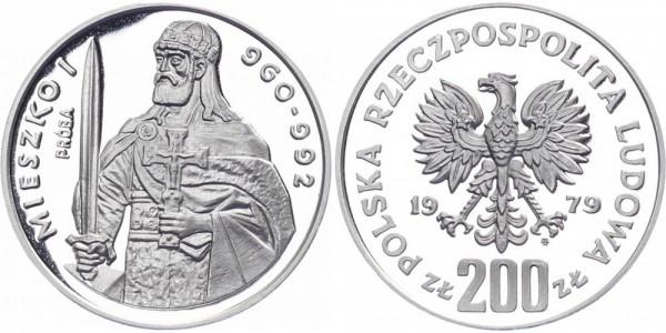 Polen 200 Zlotych 1979 - Mieszko I.