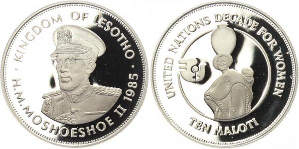 Lesotho 10 Maloti 1985 - Jahrzehnt der Frau
