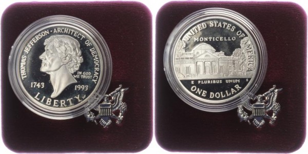 USA 1 Dollar 1993 - Thomas Jefferson