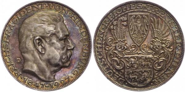Deutschland/Weimarer Republik Medaille 1927 Paul von Hindenburg ( 1925 - 1934 ) zum 80. Geburtstag,