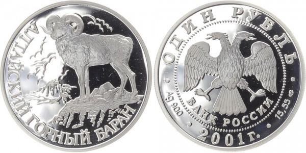 Russland 1 Rubel 2001 - Altai-Wildschaf