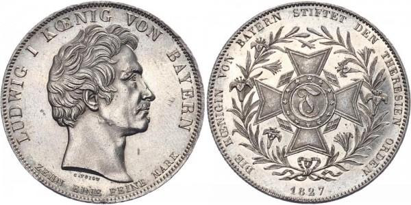 Bayern Geschichtstaler 1827 - Theresienorden