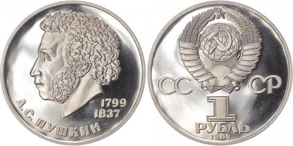 Sowjetunion 1 Rubel 1984 - Alexandr Puskin