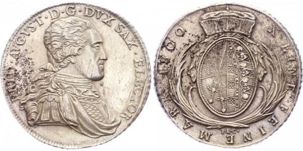 Sachsen Taler 1800 - Friedrich August III. (1763 - 1806)