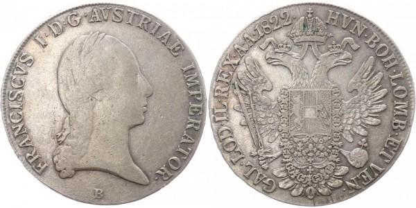 Österreich Taler 1822 B (Kremnitz) Franz I.