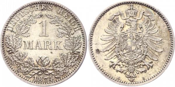Kaiserreich 1 Mark 1874 A -