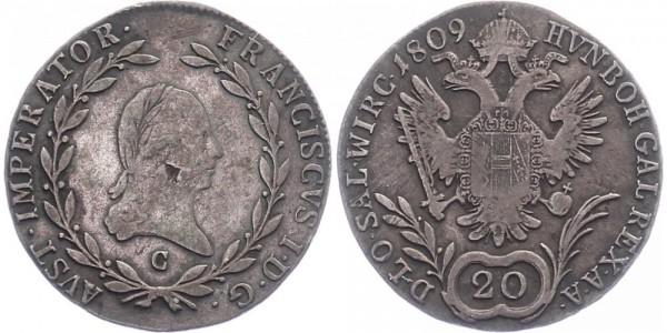 Österreich 20 Kreuzer 1809 - Ferdinantd I.