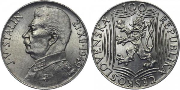CSR 100 Kč 1949 - 70. Geburtstag Stalin