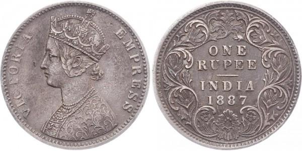 Britisch-Indien 1 Rupie 1887 - Victoria