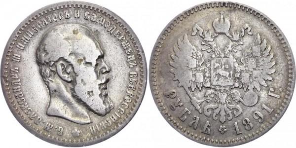Russland Rubel 1891 - Alexander III. 1881-1894