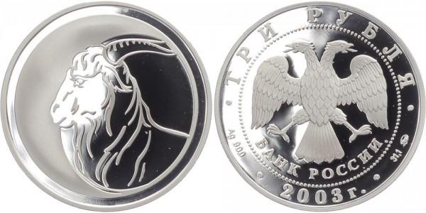 Russland 3 Rubel 2003 - Ziege