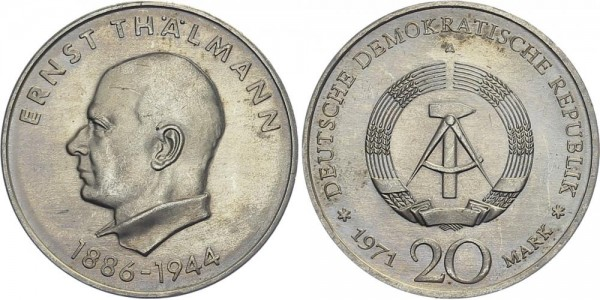 DDR 20 Mark 1971 A Thälmann