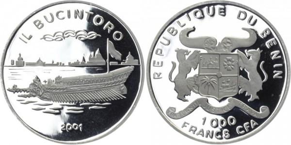 BENIN 1000 Francs 2001 - Il Bucintoro