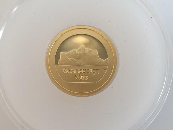 Luxemburg 10 Euro 2004 Maske von Hellange PP