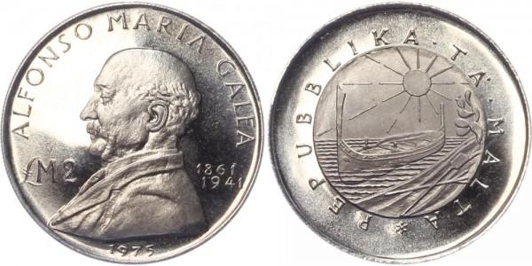 Malta 2 Liri 1975 - Alfonso Maria Galea