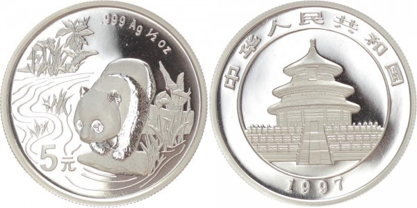 China 5 Yuan 1997 - Panda