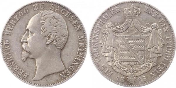 Sachsen Meiningen Taler 1866 - Bernhard