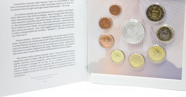 San Marino 3,88€ + 5 € 2015 Euro KMS, 5 € Silbermünze