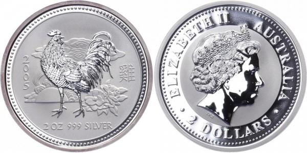 Australien 2 Dollars 2005 - Jahr des Hahns - Lunar Serie