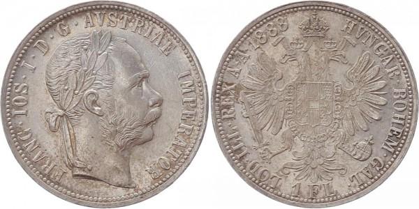Österreich 1 Florin (Gulden) 1888 - Franz Joseph I.