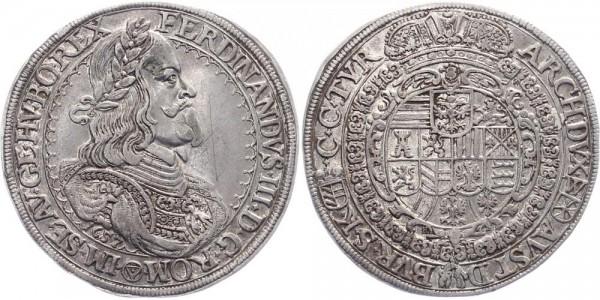 Haus Habsburg 1 Taler 1657 Wien Ferinand III.