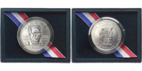 USA 1 Dollar 1998 - Black Revolutionary War Patriots
