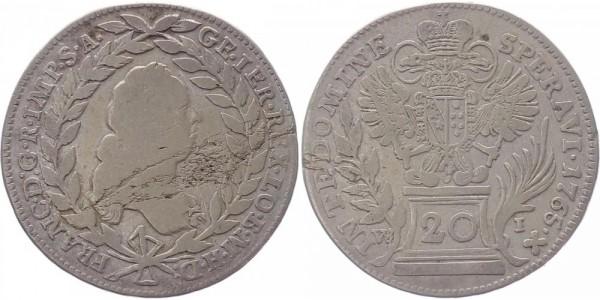 Haus Habsburg 20 Kreuzer 1765 - Franz I.