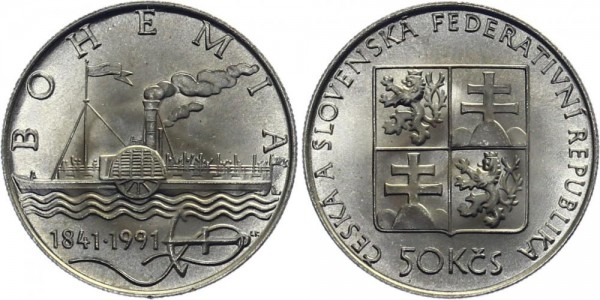 CSFR 50 Kč 1991 - Bohemia