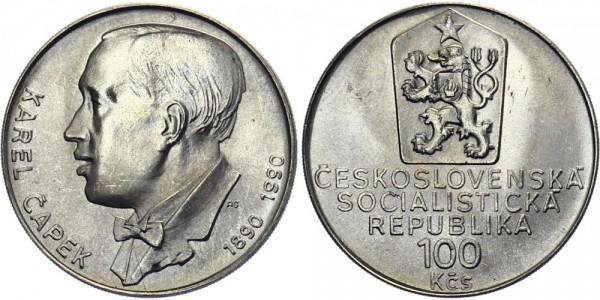 CSSR 100 Kč 1990 - Karel Capek