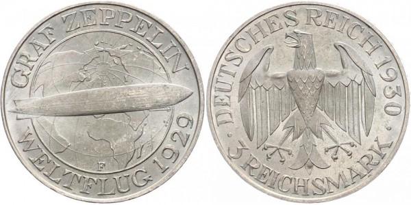 Weimarer Republik 3 Mark 1930 F Zeppelin