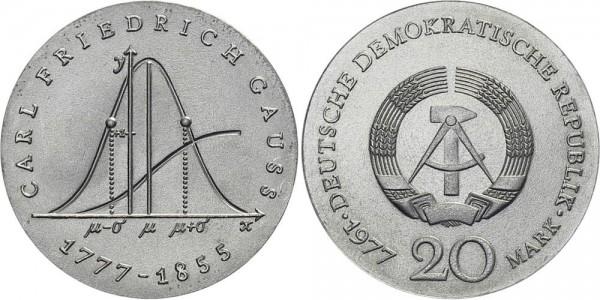DDR 20 Mark 1977 A Gauß