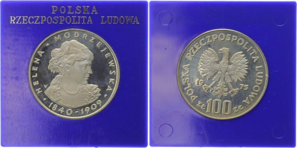 Polen 100 Zlotych 1975 - Helena Modrzejewska
