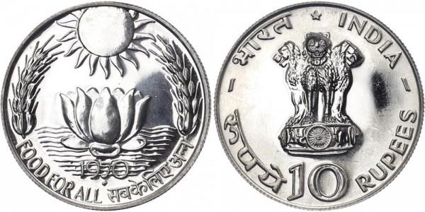 Indien 10 Rupien 1970 Mumbai Food for all