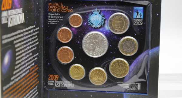 San Marino 3,88€ + 5€ 2009 Euro KMS, 5€ Silbermünze