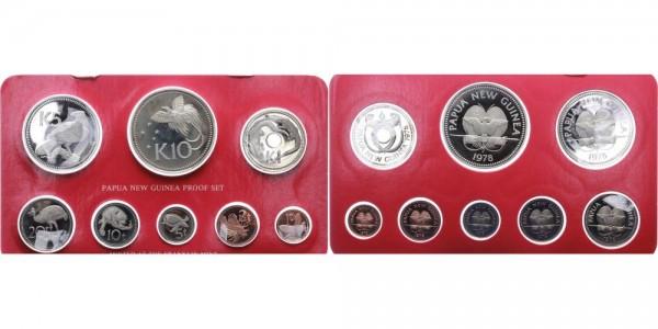 Papua-Neuguina 1toea-10 Kina 1975/78 - Satz