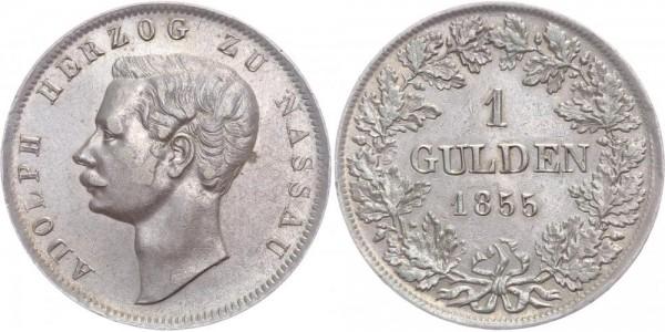 Nassau 1 Gulden 1855 - Adolph