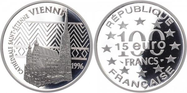 Frankreich 100 Francs/15 Euro 1996 - Stephansdom Wien