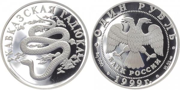 Russland 1 Rubel 1999 - Kaukasusotter