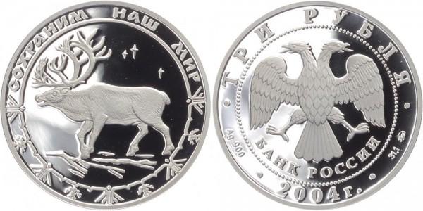 Russland 3 Rubel 2004 - Rentier