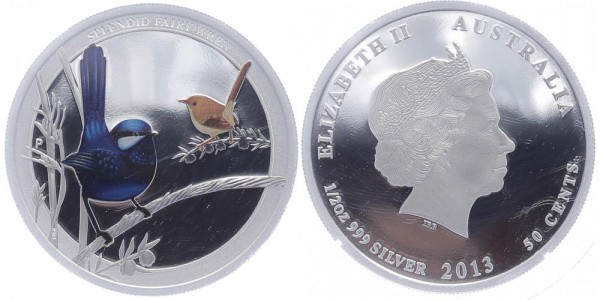 Australien 50 Cents 2013 - Splendid Fairy-Wren