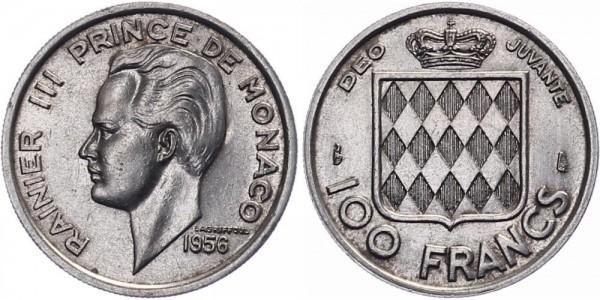 Monaco 100 Francs 1956 - Rainier III